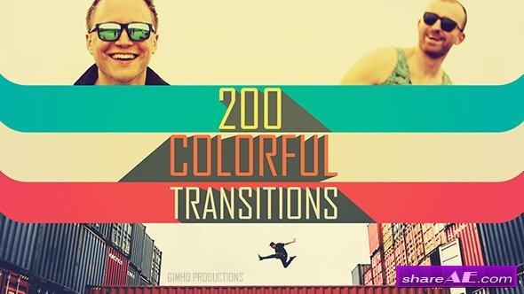 دانلود ۲۰۰ ترنزیشن رنگی آماده موشن گرافیک برای افترافکت