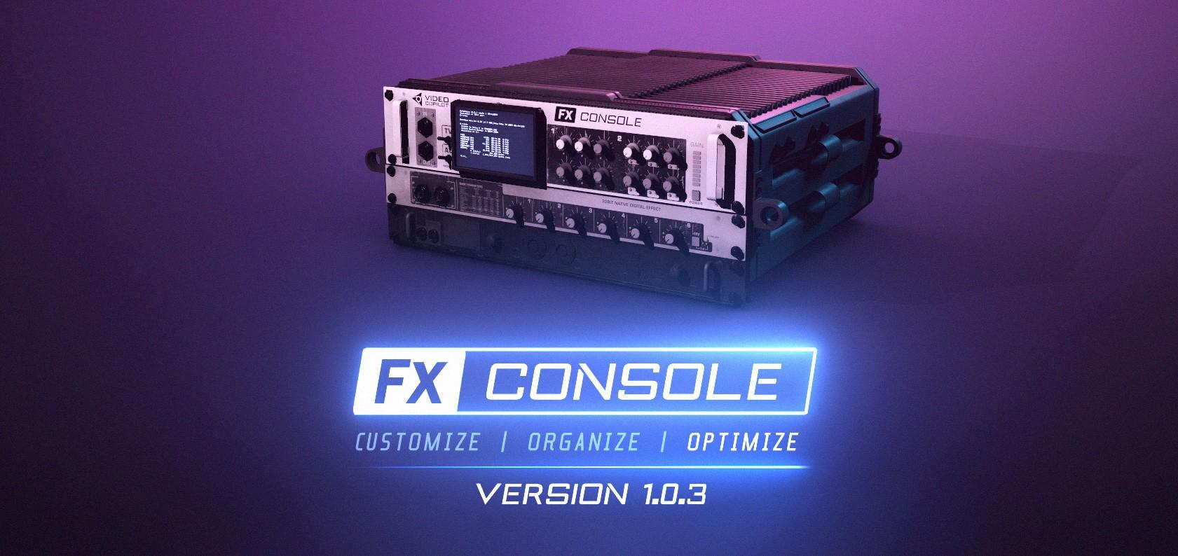 دانلود پلاگین FX Console 1.0.3 برای افترافکت